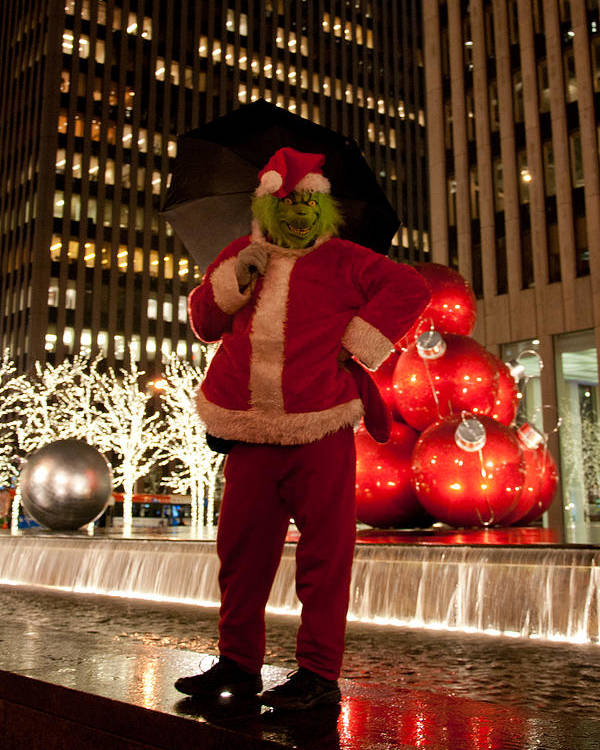 New York Poster featuring the photograph Merry Grinchmas by Heidi Reyher