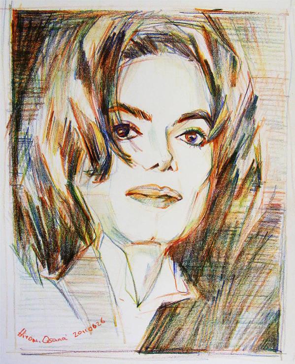 Michael Jackson Poster featuring the drawing Michael Jackson - Indigo Child by Hitomi Osanai
