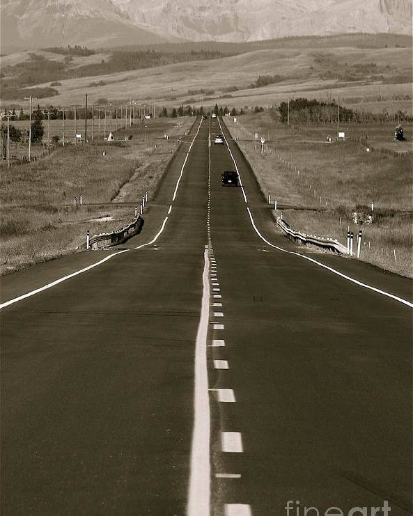 'roads Poster featuring the photograph Middle Of The Road by David Hubbs