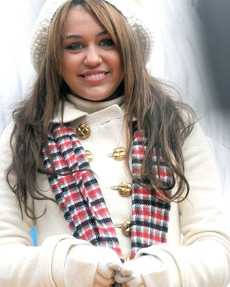 The 82nd Annual Macy''s Thanksgiving Day Parade Poster featuring the photograph Miley Cyrus At A Public Appearance by Everett