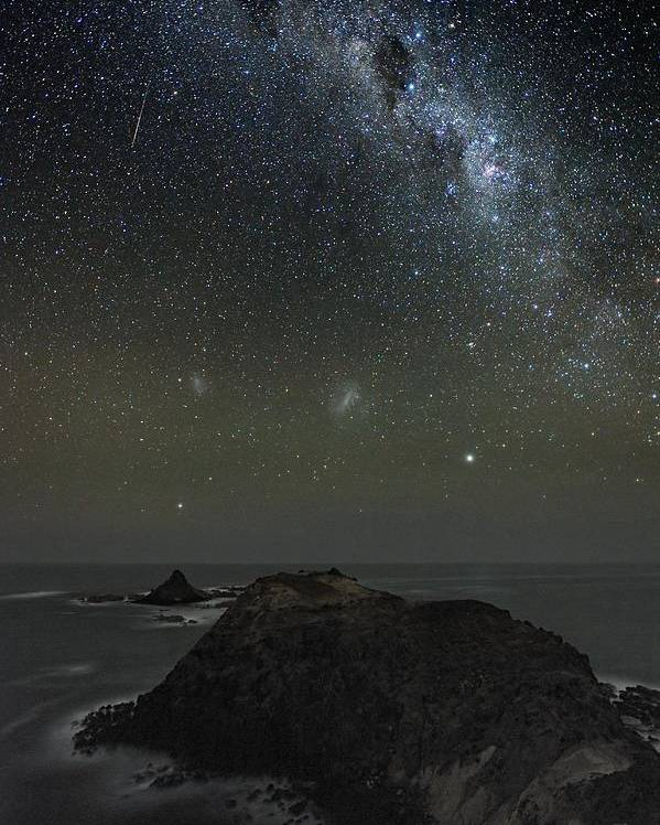Milky Way Poster featuring the photograph Milky Way Over Phillip Island, Australia by Alex Cherney, Terrastro.com