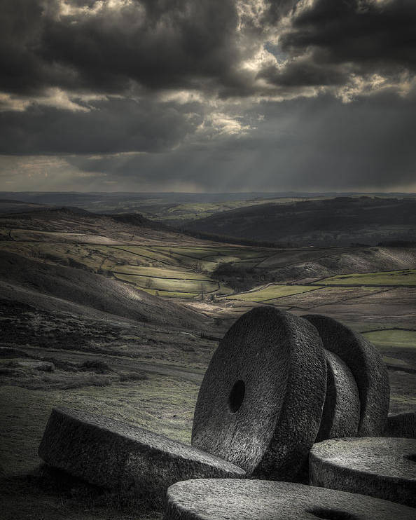 Peak District Landscape Poster featuring the photograph Millstones by Andy Astbury