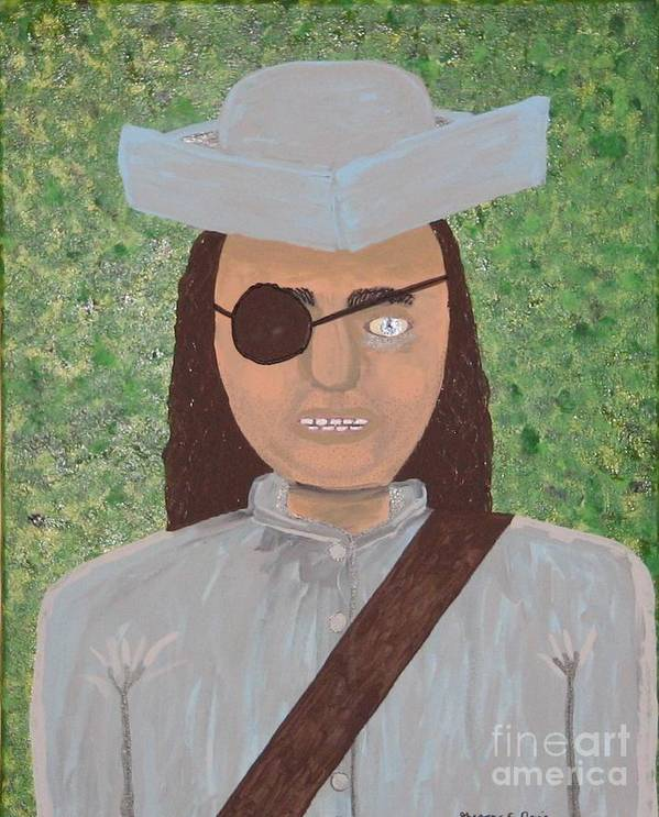 Pirate Poster featuring the painting Minute Man by Gregory Davis