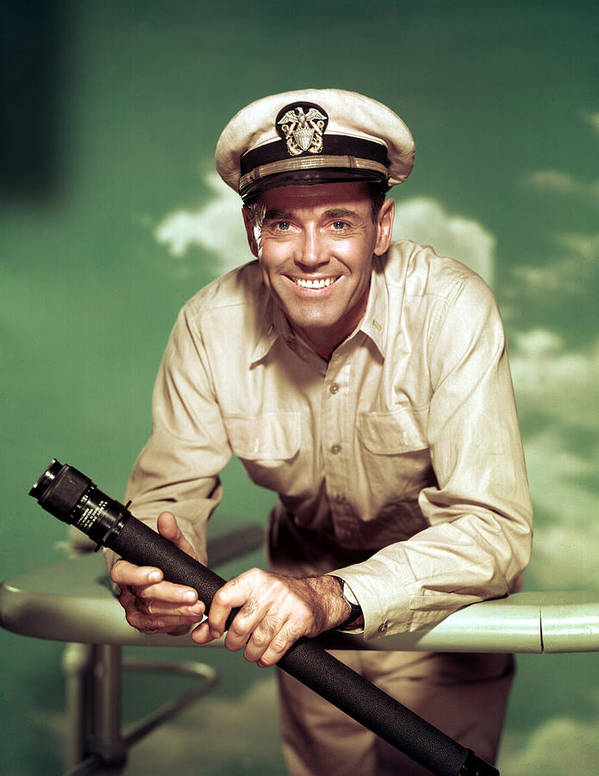 1950s Movies Poster featuring the photograph Mister Roberts, Henry Fonda, 1955 by Everett