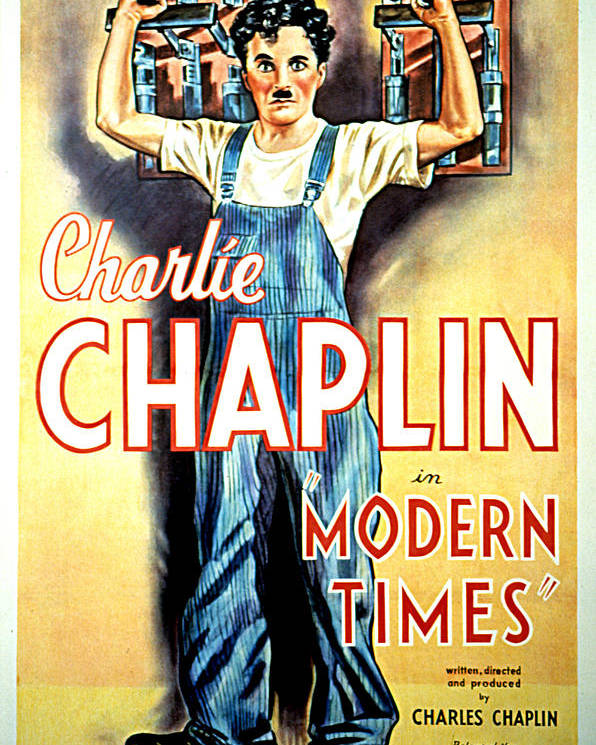 1930s Movies Poster featuring the photograph Modern Times, Charlie Chaplin, 1936 by Everett