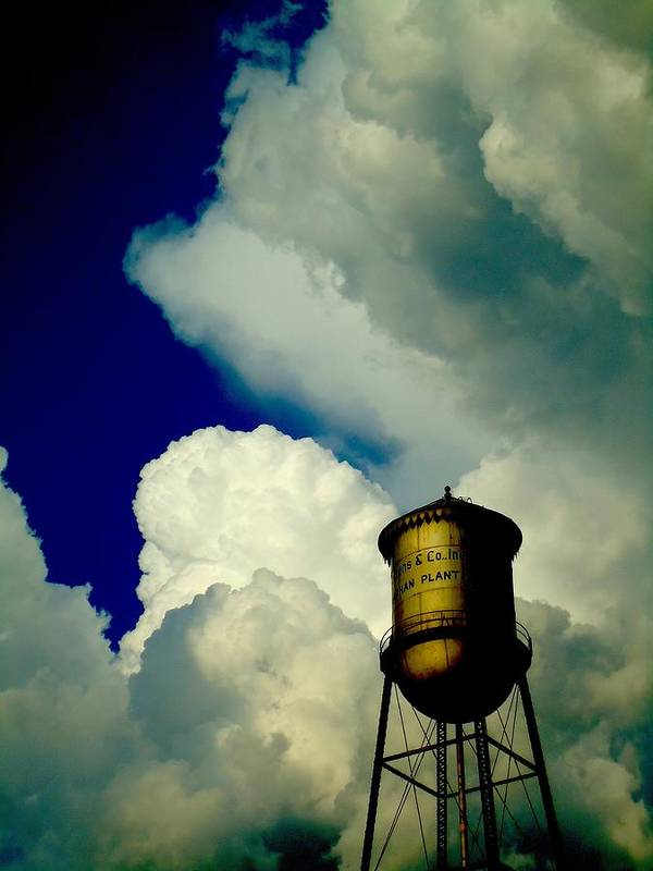 Clouds Poster featuring the photograph Monaghan Mill by Kathryn Strong