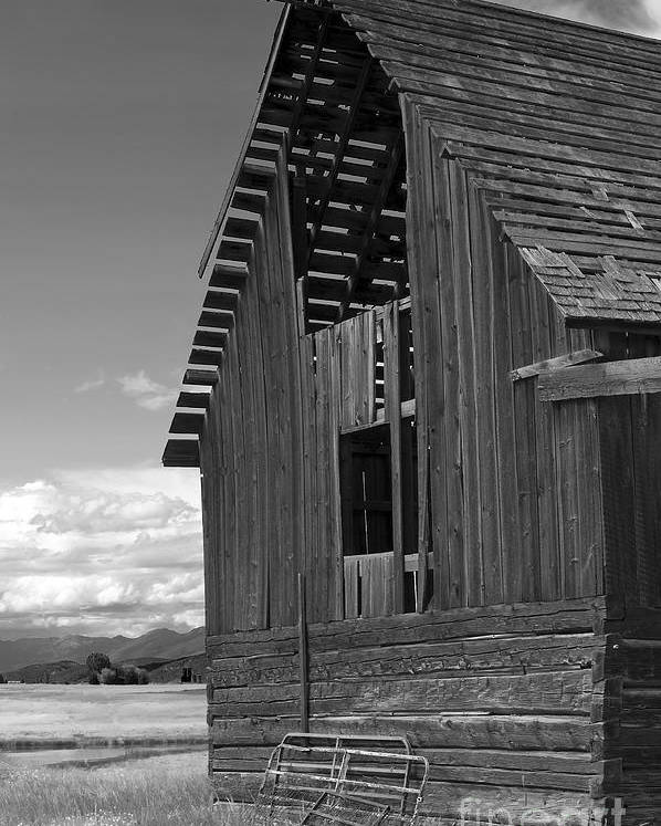 Sandra Bronstein Poster featuring the photograph Montana Weathered Barn by Sandra Bronstein