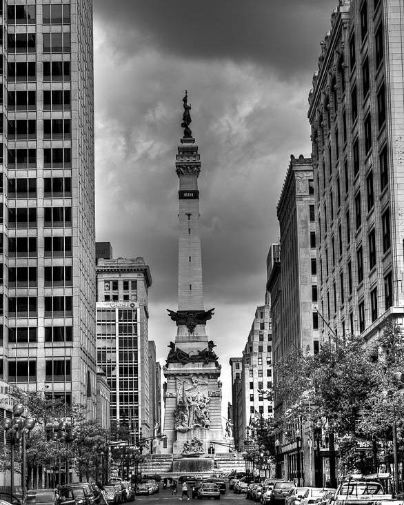 Black And White Poster featuring the photograph Monument by Vinnie Oliveri