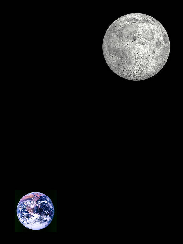 Earth Poster featuring the photograph Moon And Earth by Laguna Design