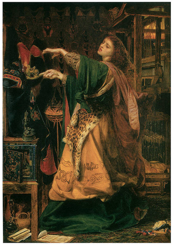 Frederick Sandys Poster featuring the painting Morgan-le-fay by Frederick Sandys
