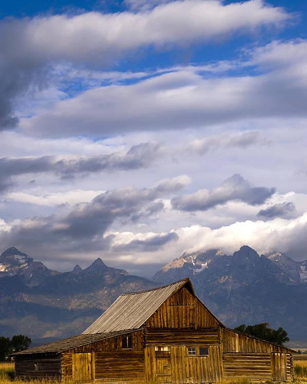 Mormon Barn Poster featuring the photograph Mormon Barn Morning by Joseph Rossbach