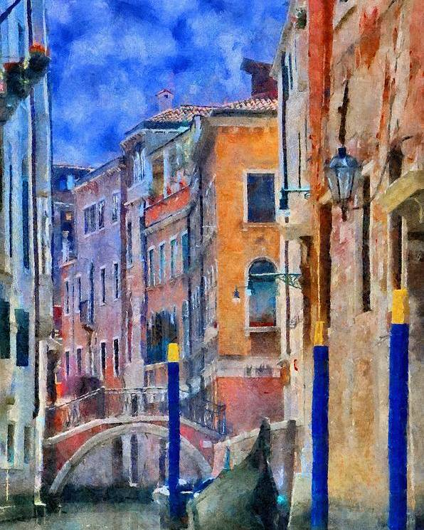 Adriatic Poster featuring the painting Morning Calm In Venice by Jeffrey Kolker