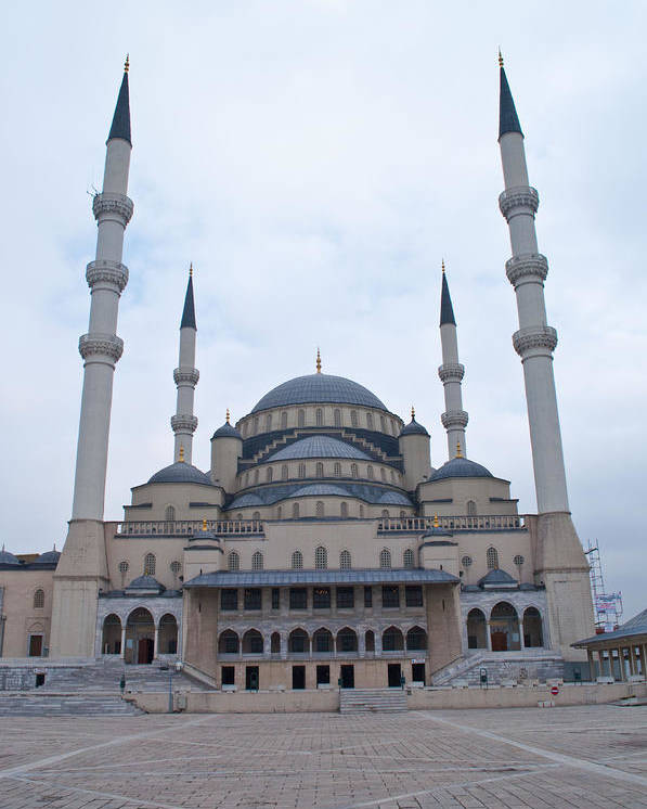 Turkey Poster featuring the photograph Mosque Ankara by Robert M Brown II