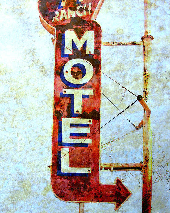 Signs Poster featuring the photograph Motel 77 Sign by Ann Powell