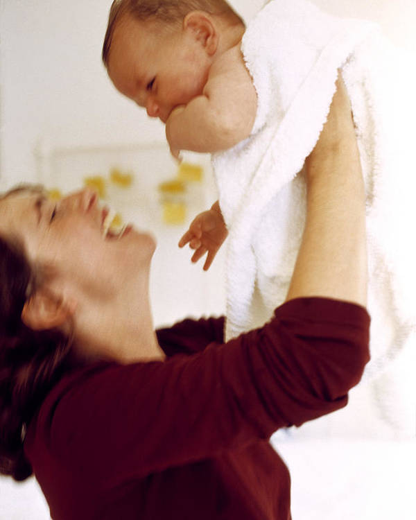 Mother Poster featuring the photograph Mother And Baby by Ian Boddy