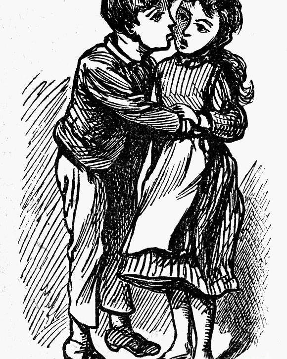 19th Century Poster featuring the photograph Mother Goose: Kiss by Granger