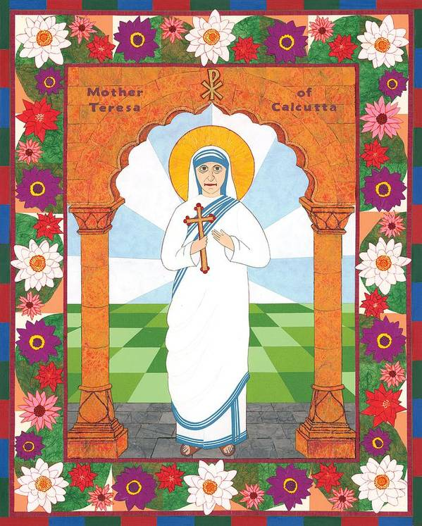 Icon Poster featuring the painting Mother Teresa Of Calcutta Icon by David Raber