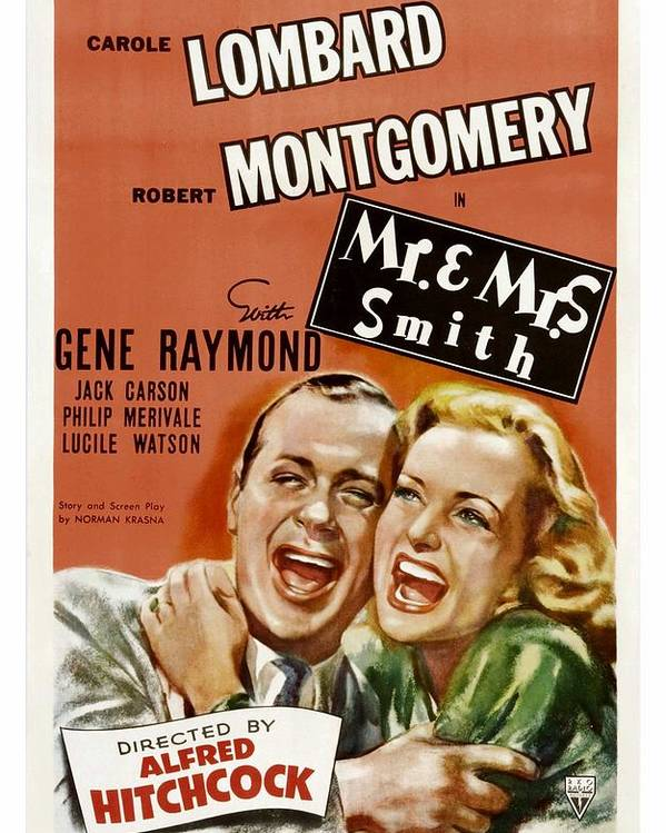 1940s Movies Poster featuring the photograph Mr. And Mrs. Smith, Robert Montgomery by Everett