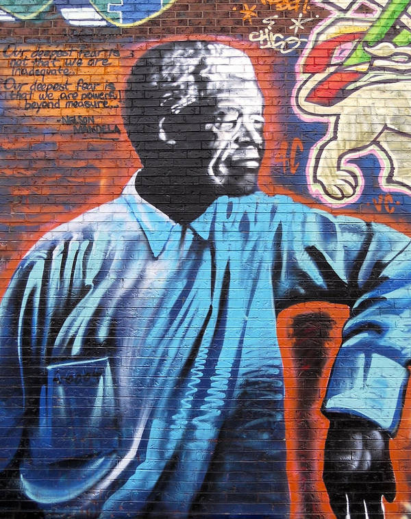 Graffiti Poster featuring the photograph Mr. Nelson Mandela by Juergen Weiss
