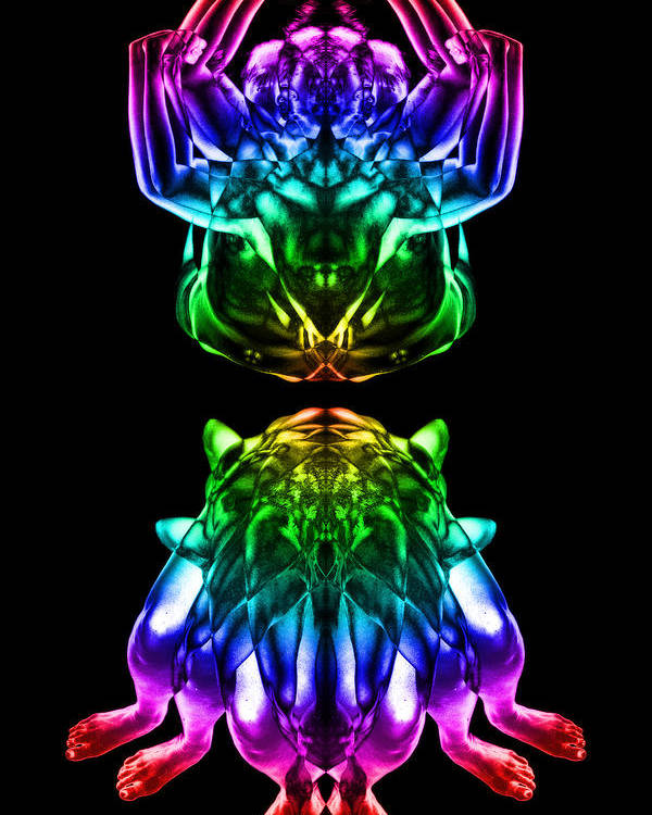 Psychedelic Poster featuring the digital art Multiplicity 2 by David Kleinsasser