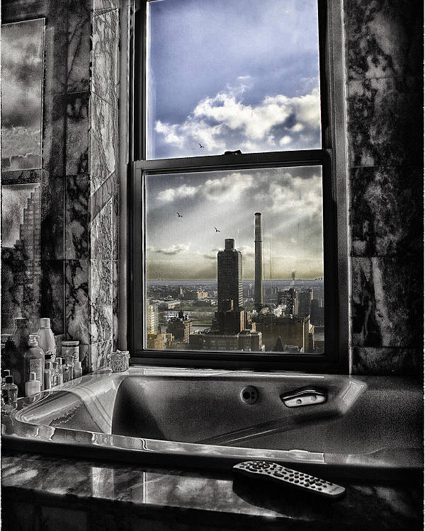 Manhattan Poster featuring the photograph My Favorite Channel Is Manhattan View by Madeline Ellis