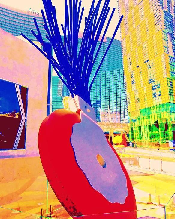 Las Vegas Poster featuring the digital art My Vegas City Center 31 by Randall Weidner