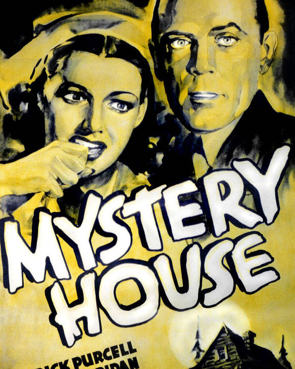 1930s Movies Poster featuring the photograph Mystery House, From Left Ann Sheridan by Everett
