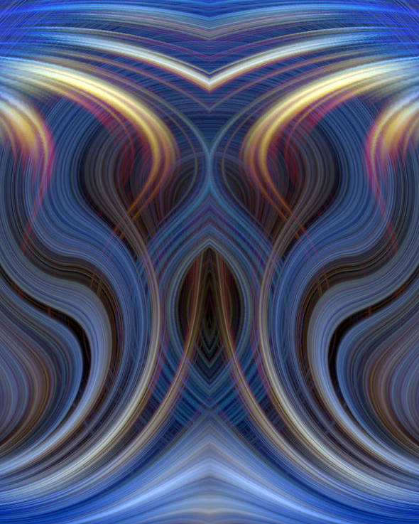 Abstract Poster featuring the photograph Mystic Ghost by Linda Phelps