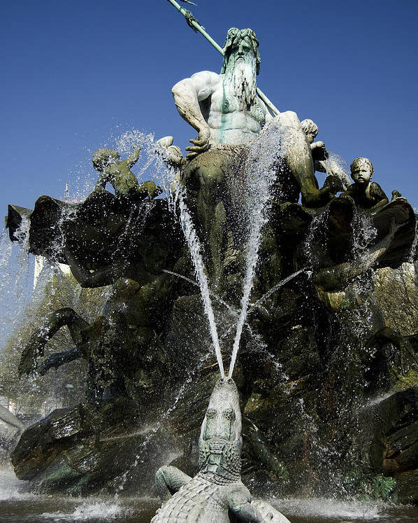 Neptune Poster featuring the photograph Neptune Fountain by RicardMN Photography
