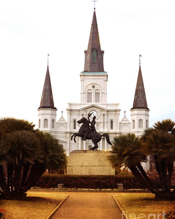 New Orleans Poster featuring the photograph New Orleans St. Louis Cathedral by Kim Fearheiley