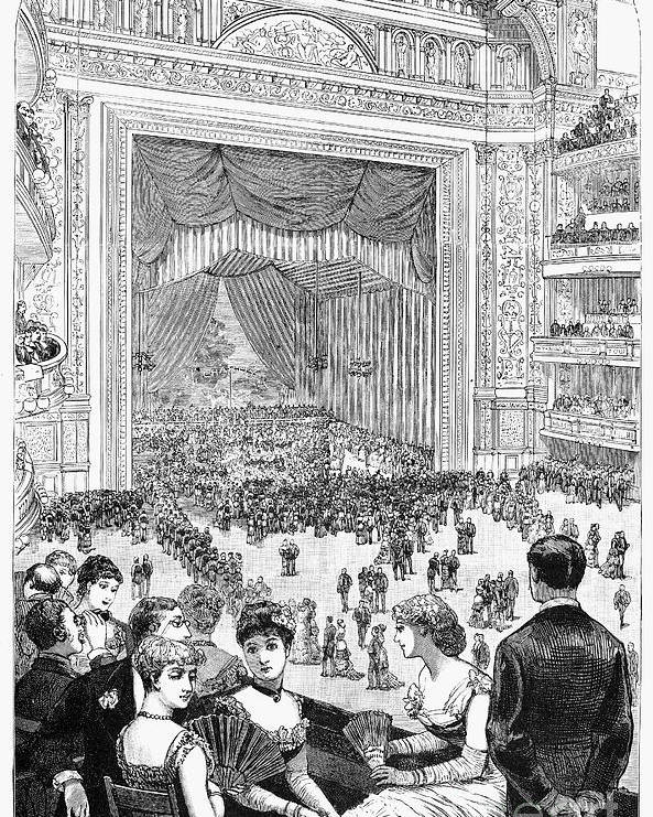 -organization- Poster featuring the photograph New York Charity Ball, 1884 by Granger