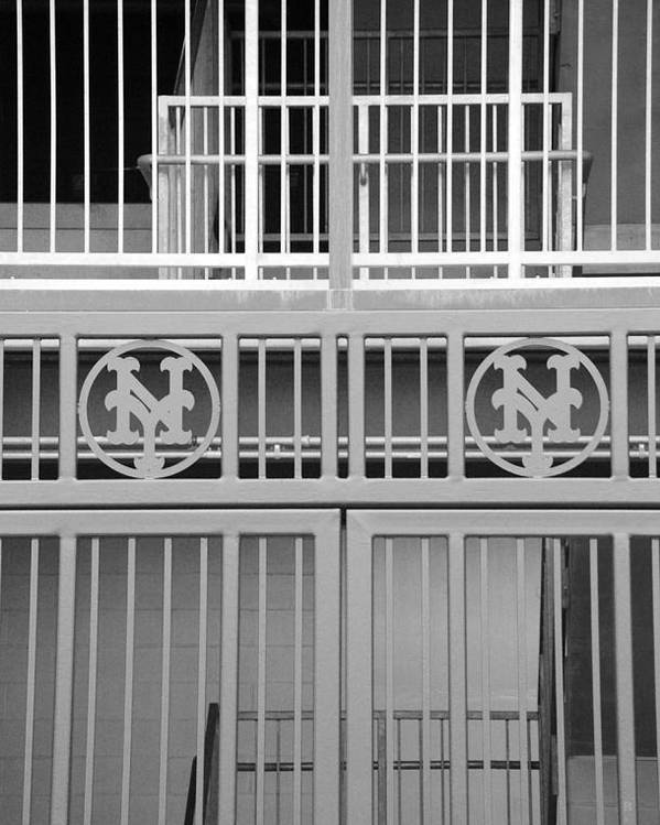 Shea Stadium Poster featuring the photograph New York Mets Jail by Rob Hans