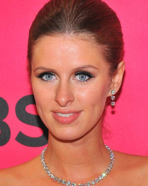 Nicky Hilton Poster featuring the photograph Nicky Hilton Wearing A Mouawad Necklace by Everett