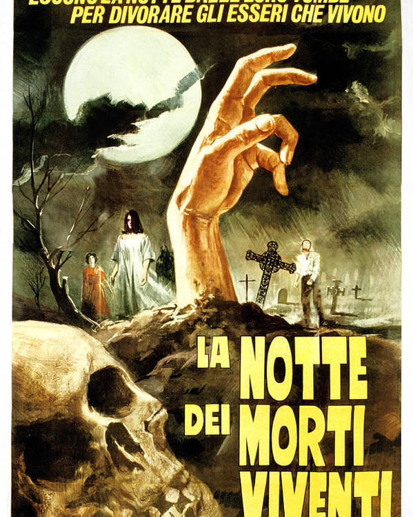 1960s Movies Poster featuring the photograph Night Of The Living Dead, Aka La Notte by Everett