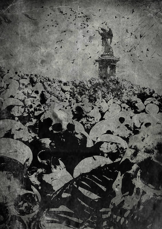 Angel Poster featuring the digital art Nihil 300910 by Maciej Kamuda