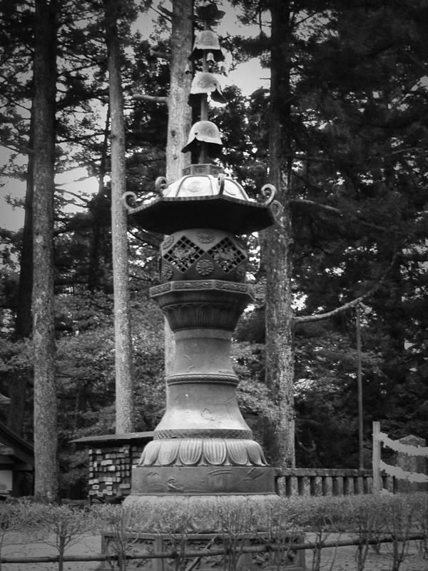 Nikko Poster featuring the photograph Nikko Sculpture by Naxart Studio
