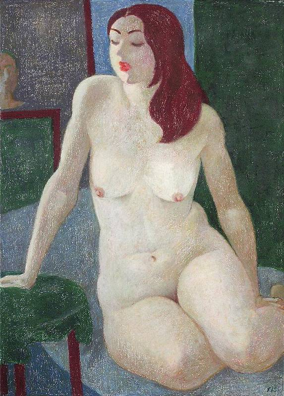 Nude Poster featuring the painting Nu 14 by Leonid Petrushin