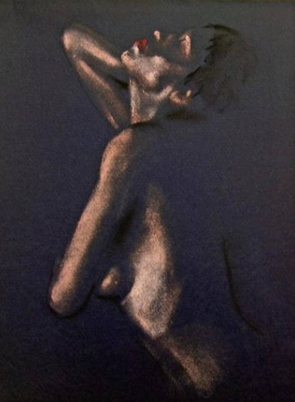 Art Poster featuring the painting Nude - Passion by Dorina Costras