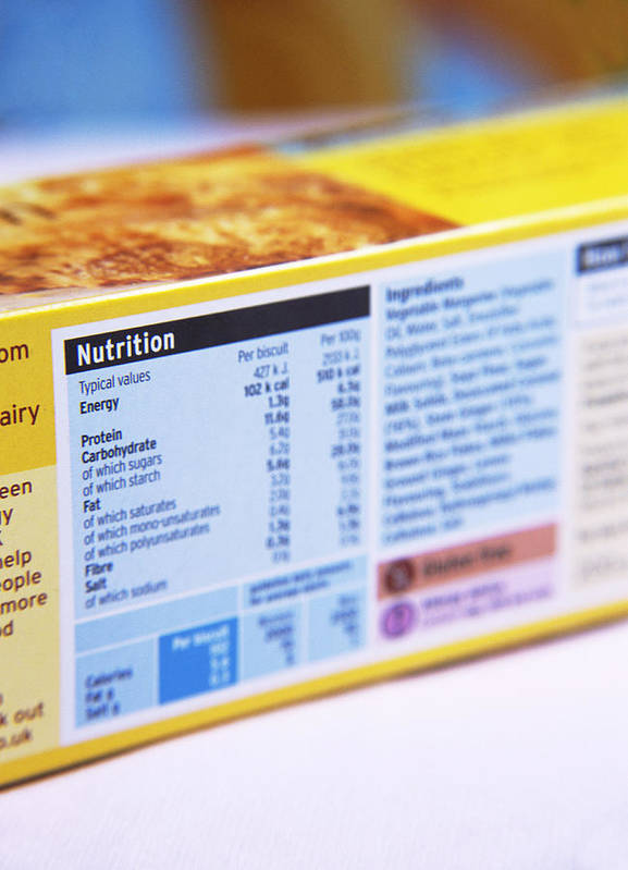 Food Poster featuring the photograph Nutrition Label by Veronique Leplat