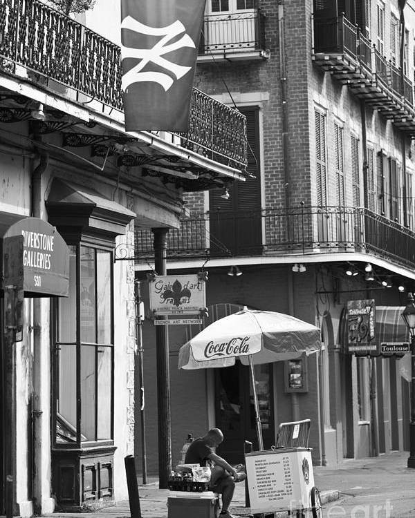 New Orleans Poster featuring the photograph Ny Yankees On Royal Street by Leslie Leda
