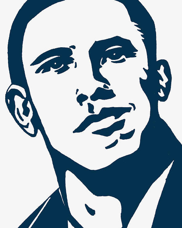 Barrack Obama Poster featuring the drawing Obama by Pramod Masurkar