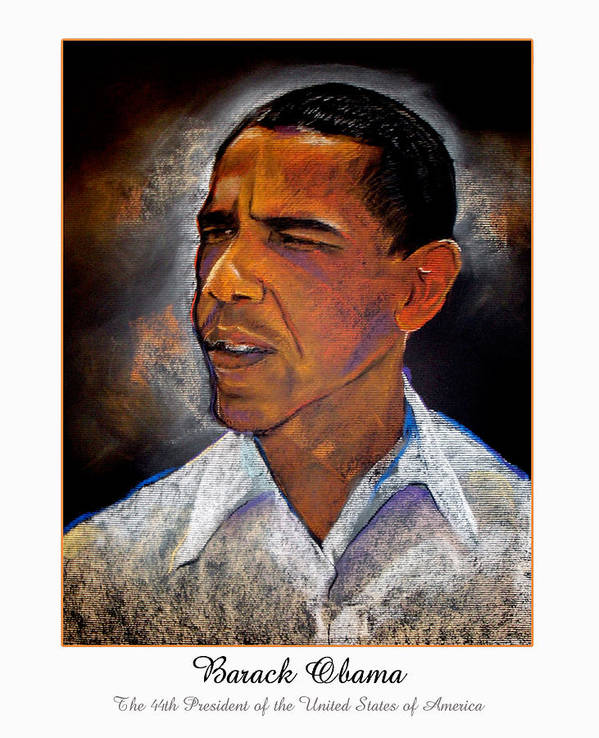 President Obama Poster featuring the digital art Obama. The 44th President. by Fred Makubuya