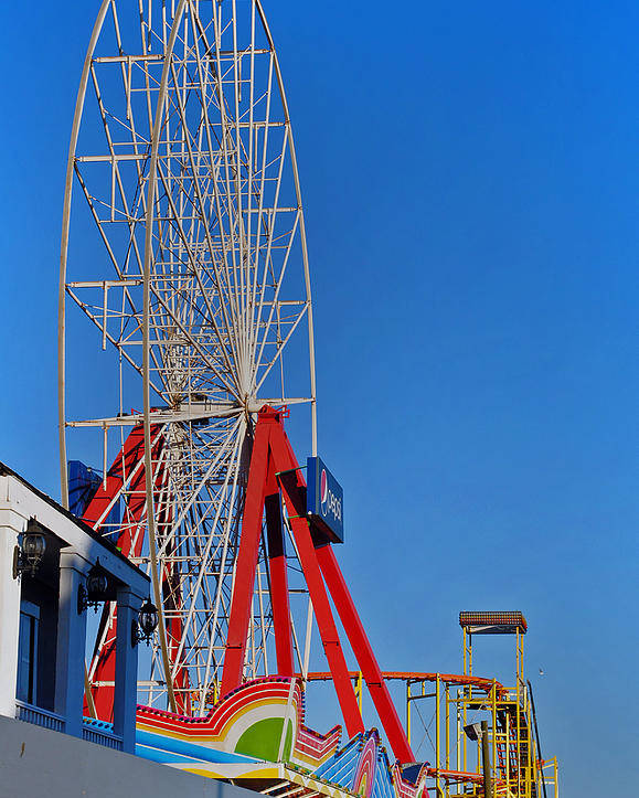 Fair Poster featuring the photograph Oc Winter Ferris Wheel by Skip Willits