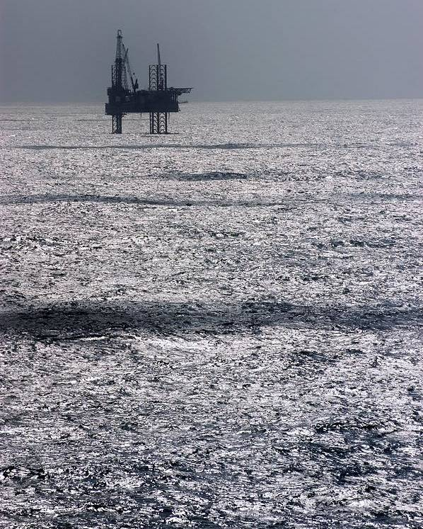 Equipment Poster featuring the photograph Oil Platform by Arno Massee