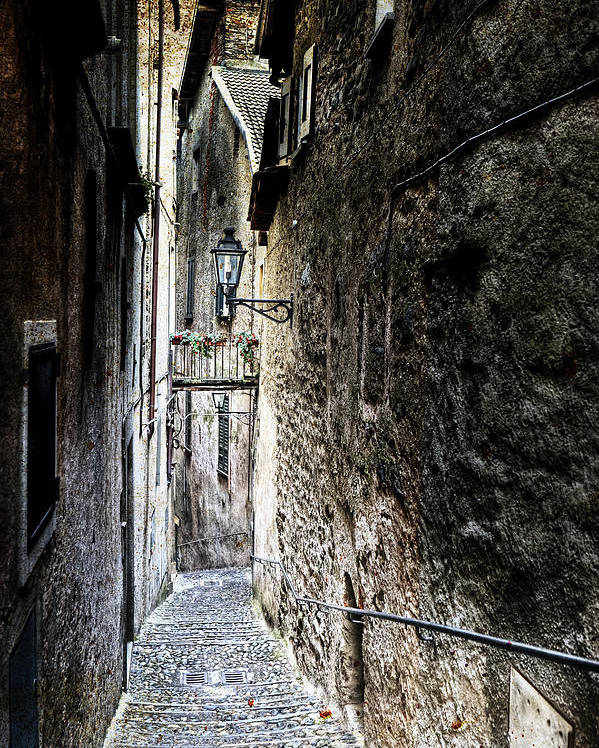 Cannobio Poster featuring the photograph old alley in Italy by Joana Kruse