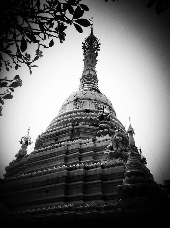 Vertical Poster featuring the photograph Old Chedi, Chiang Mai by Robsteerphotopgraphy