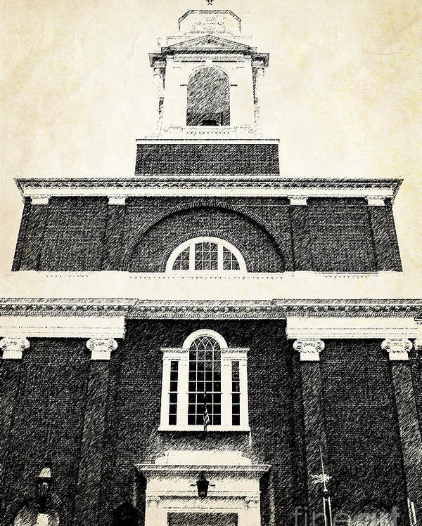 House Poster featuring the photograph Old Church In Boston by Elena Elisseeva