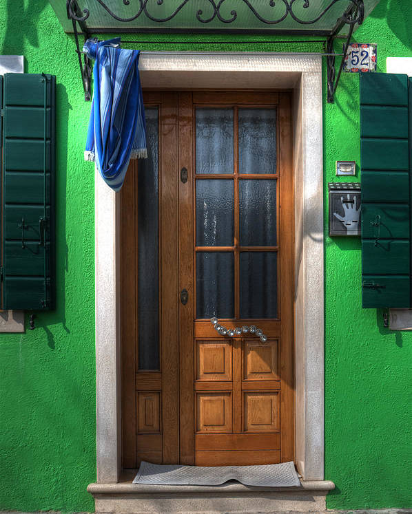 Burano Poster featuring the photograph Old Italian Door by Joana Kruse