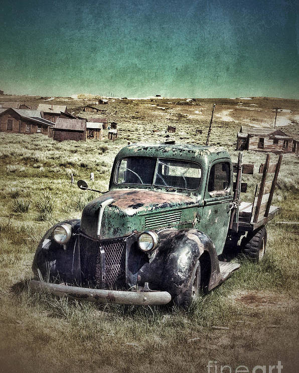 Truck Poster featuring the photograph Old Rusty Truck by Jill Battaglia