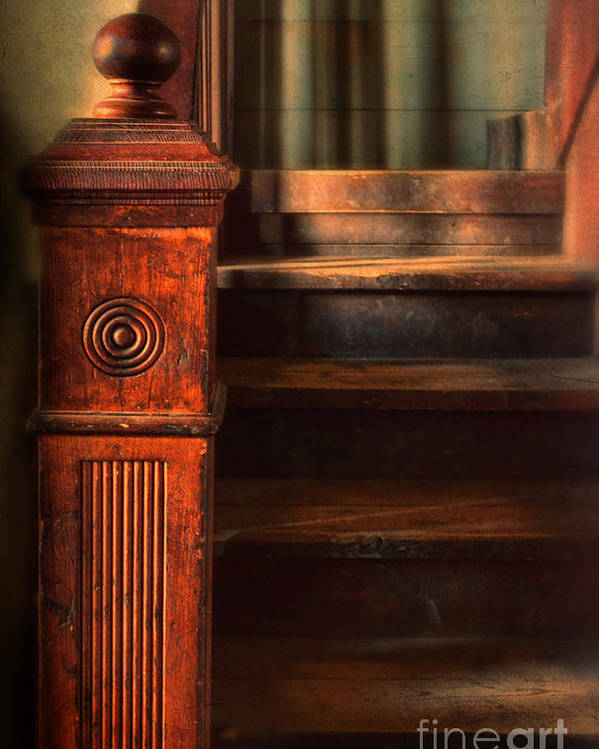Stairs Poster featuring the photograph Old Staircase by Jill Battaglia